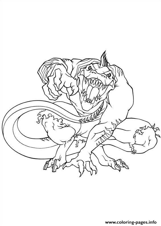 lizard coloring page # 22