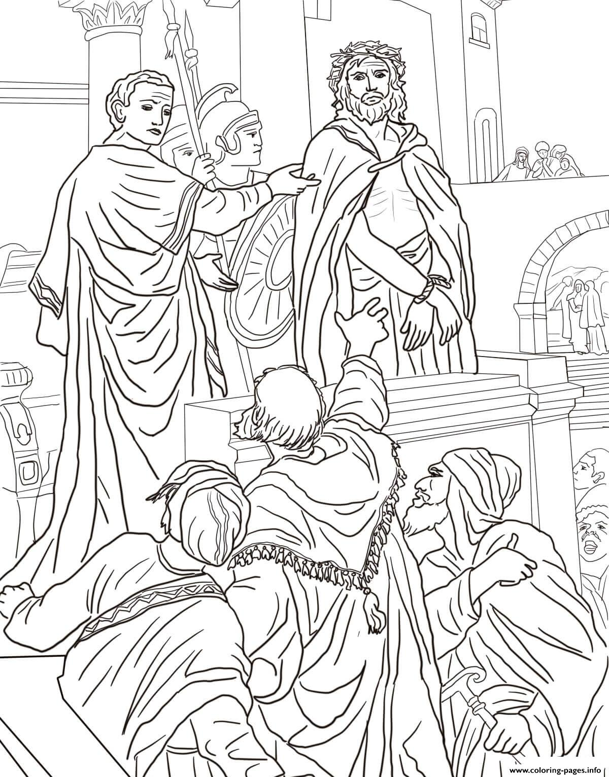 Good Friday 9 Pontius Pilate Asks The Crowd Coloring Pages
