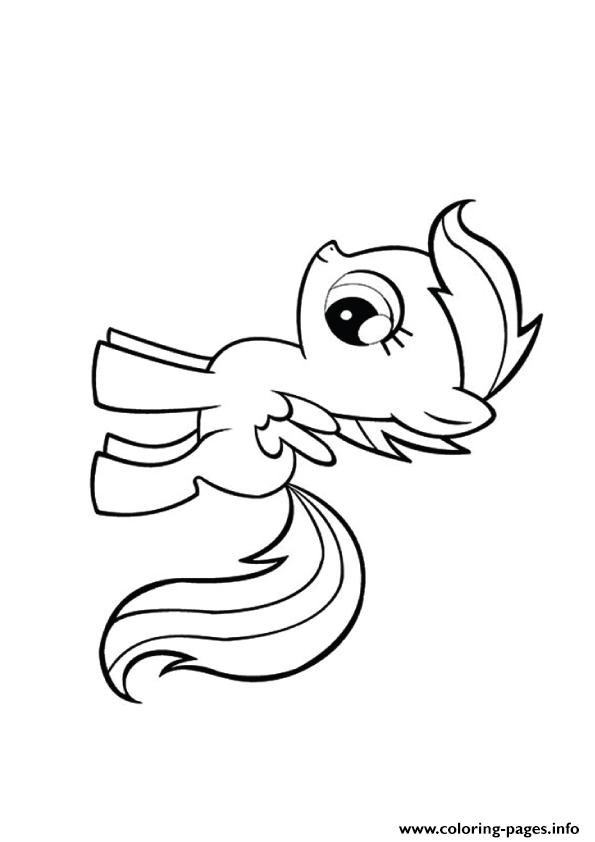 A Scootaloo My Little Pony Coloring Pages Printable