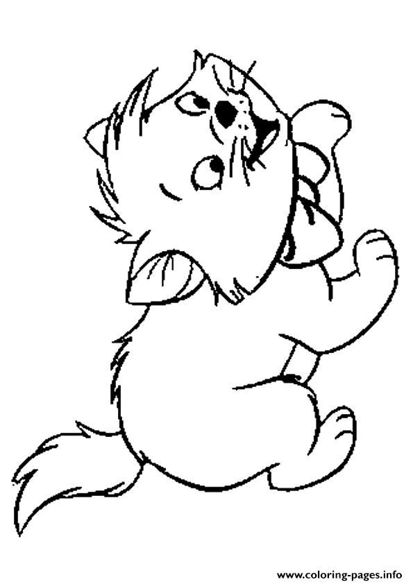 The Toulouse Kitten Coloring Pages Printable