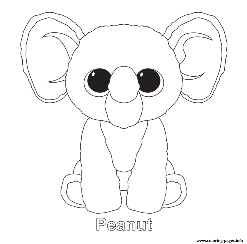 beanie boo  free coloring pages