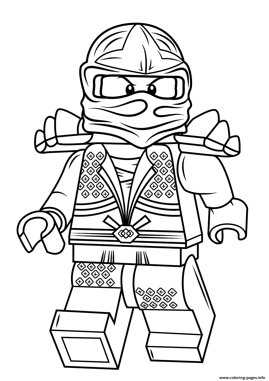 Lego Ninjago Lloyd Zx Coloring Pages Printable