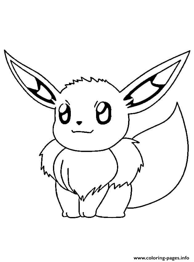 Evoli Pokemon Coloring Pages Printable