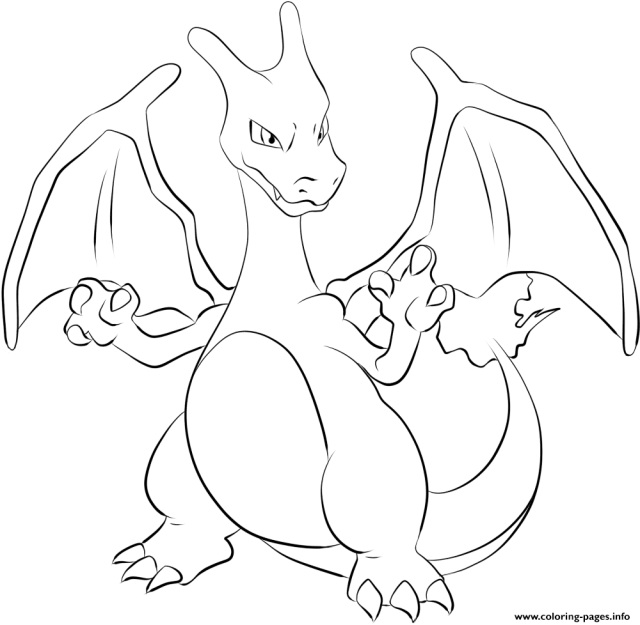 18 Charizard Pokemon Coloring Pages Printable