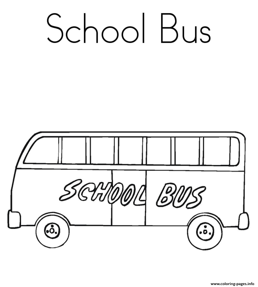 School Bus Free Coloring Pages Printable