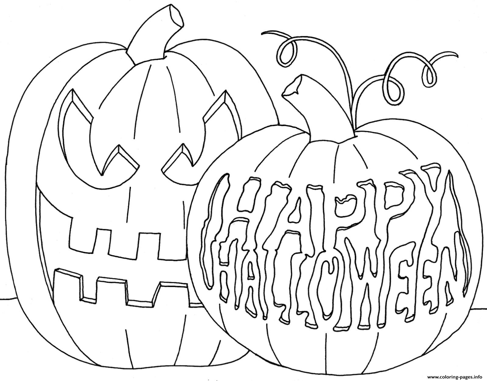 Happy Pumpkin S To Color Halloween Coloring Pages Printable