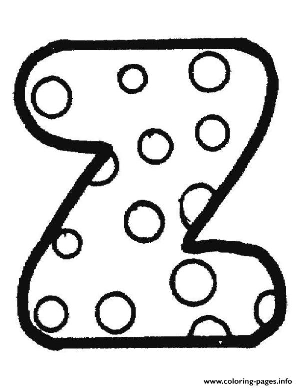 letter z coloring page # 15