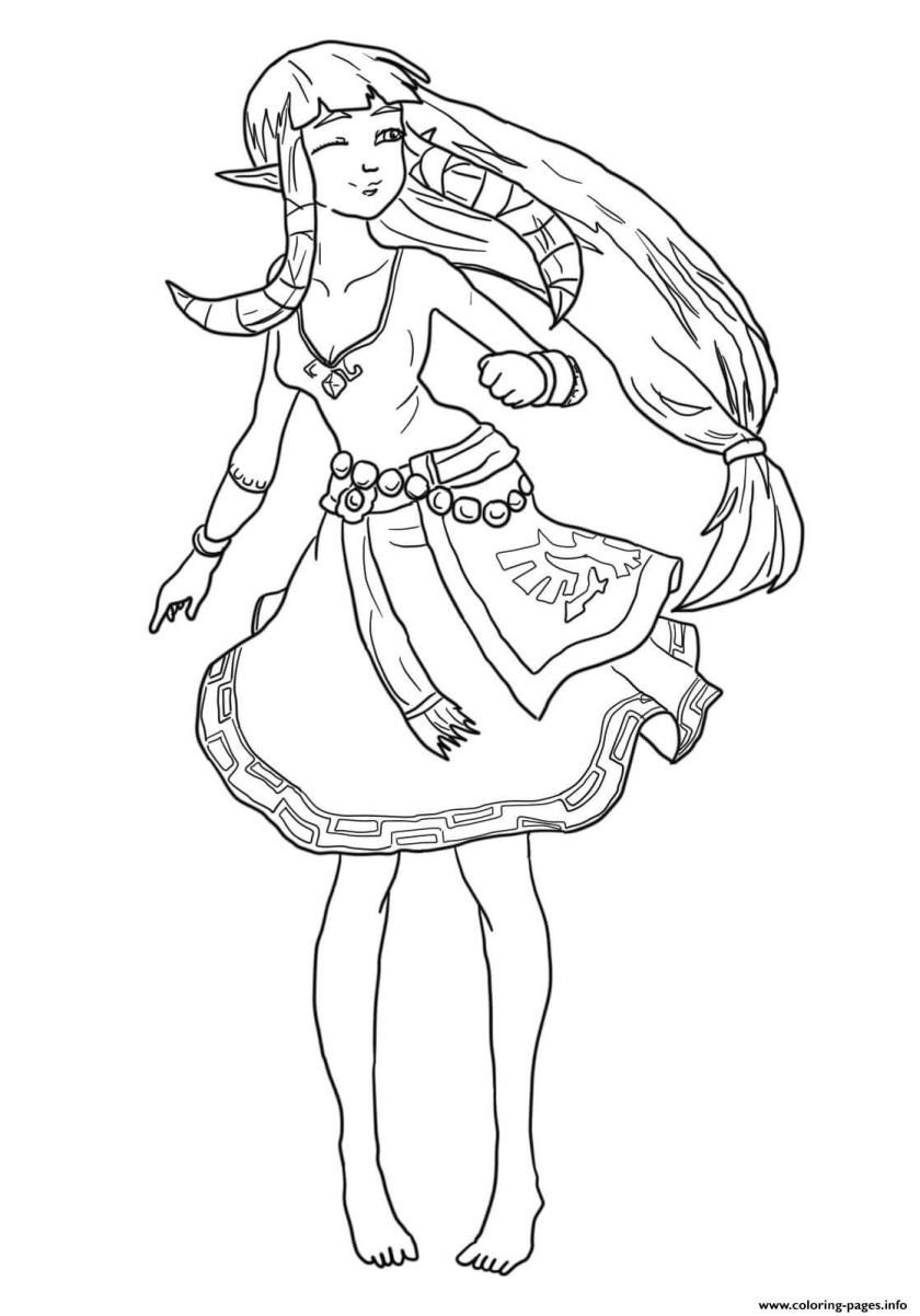 carefree zelda coloring pages printable