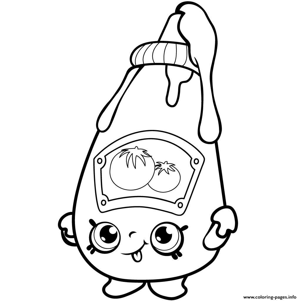 Cute Ketchup Shopkins Season 1 Coloring Pages Printable