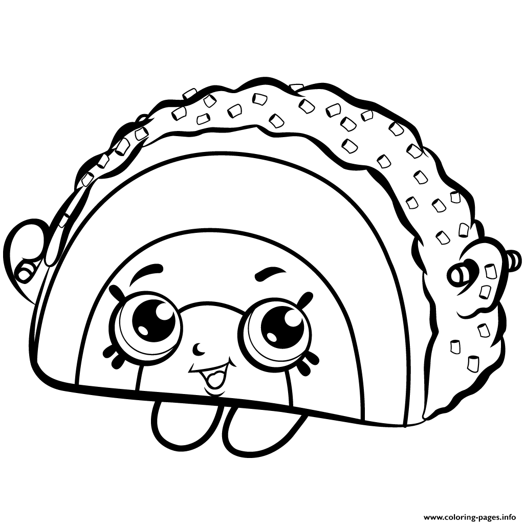 Rainbow Bite Cake Shopkins Season 1 Coloring Pages Printable