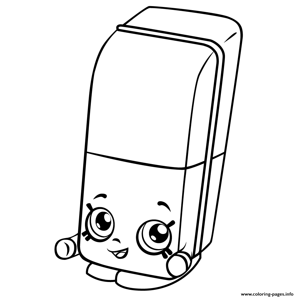 Free Erica Eraser Shopkins Season 3 Coloring Pages Printable