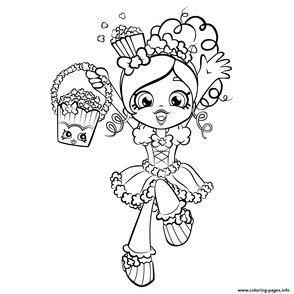 happy girl coloring page