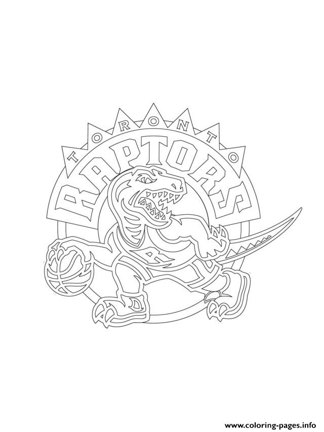 Toronto Raptors Logo Nba Sport Coloring Pages Printable