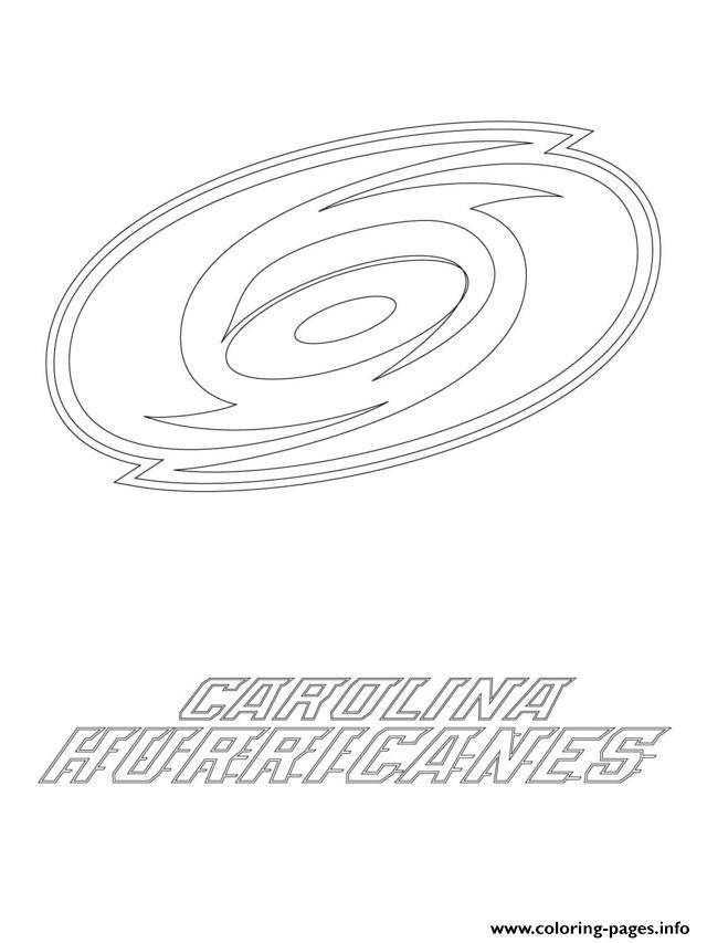 carolina hurricanes logo nhl hockey sport coloring pages