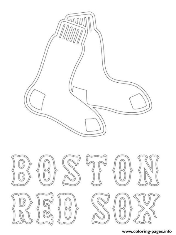 red sox coloring pages # 4
