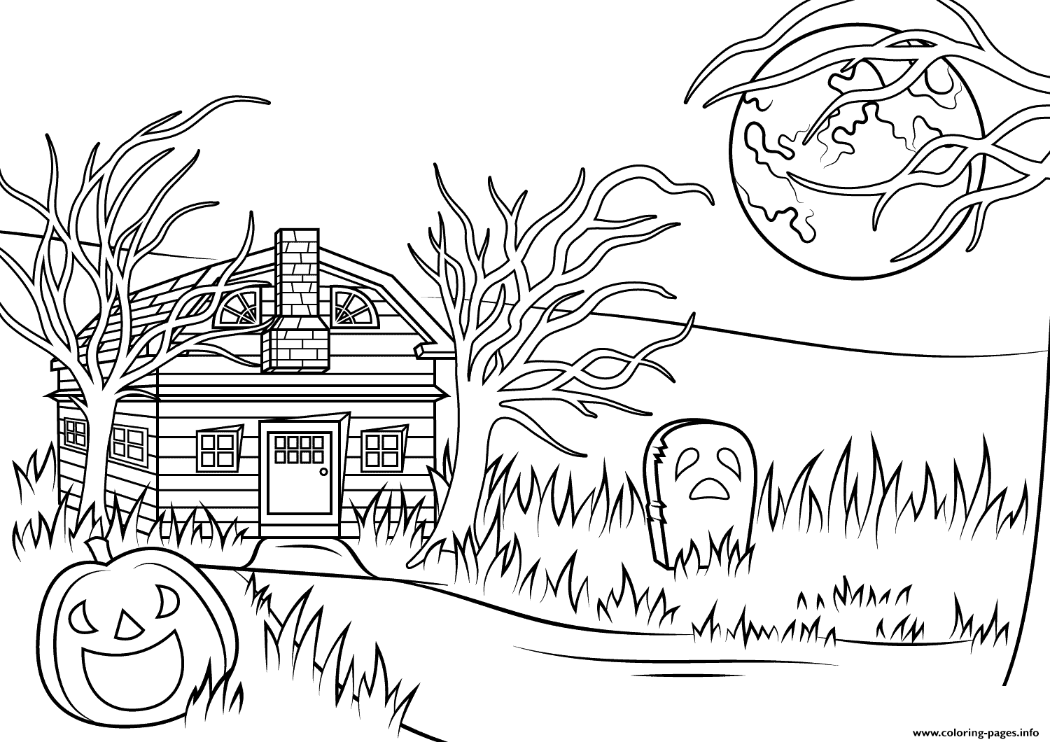 Haunted House Coloring Pages
