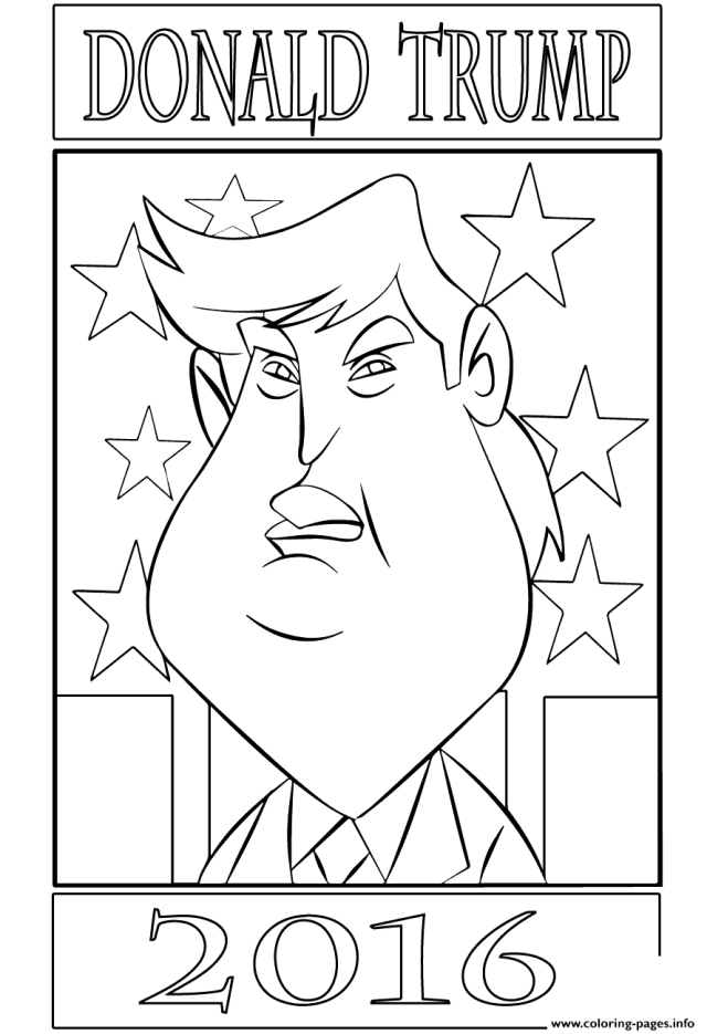 Donald Trump 15 Coloring Pages Printable