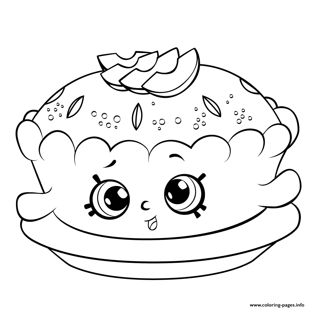 Printable Pie Coloring Pages
