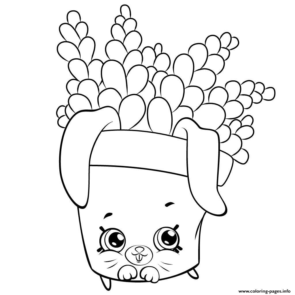 Cute Fern To Color Shopkins Season 5 Coloring Pages Printable