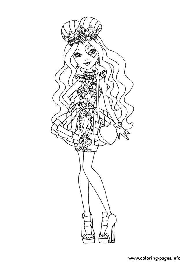 Ever After High Dolls 9 Coloring Pages Printable