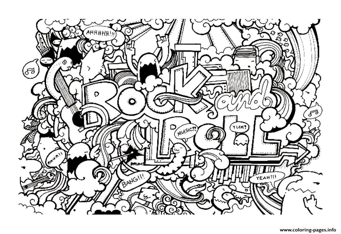 Adult Doodle Art Doodling 8 Coloring Pages Printable