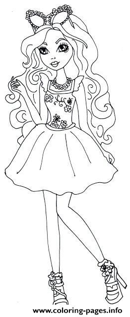 Ashlynn Ella Mirror Beach Ever After High Coloring Pages
