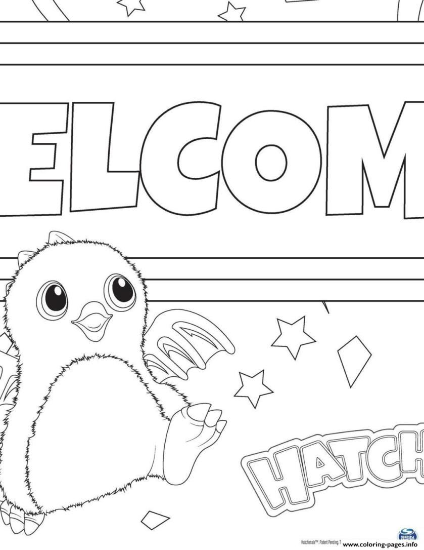 hatchy hatchimals toy coloring pages printable