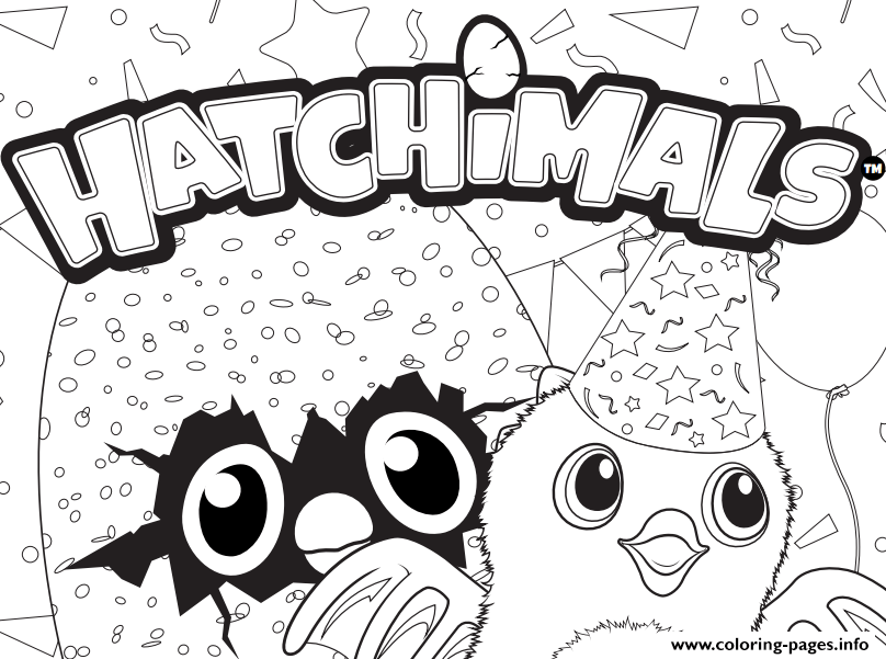 hatchy hatchimals logo coloring pages free printable