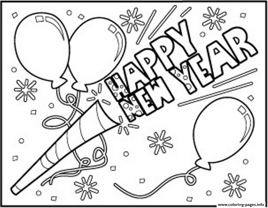 Happy New Year To Download Coloring Pages Printable