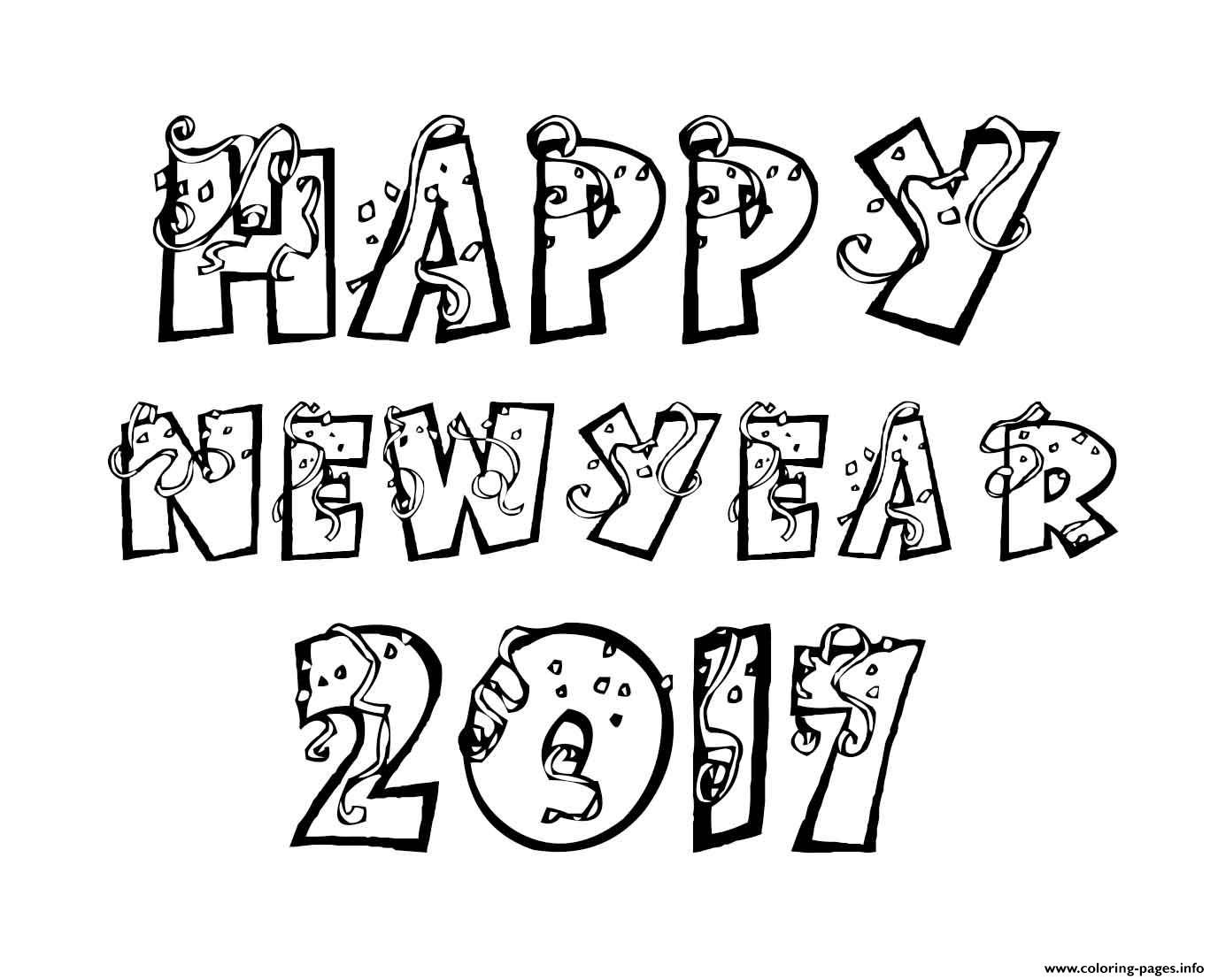 Happy New Year Coloring Pages Coloring Pages Printable