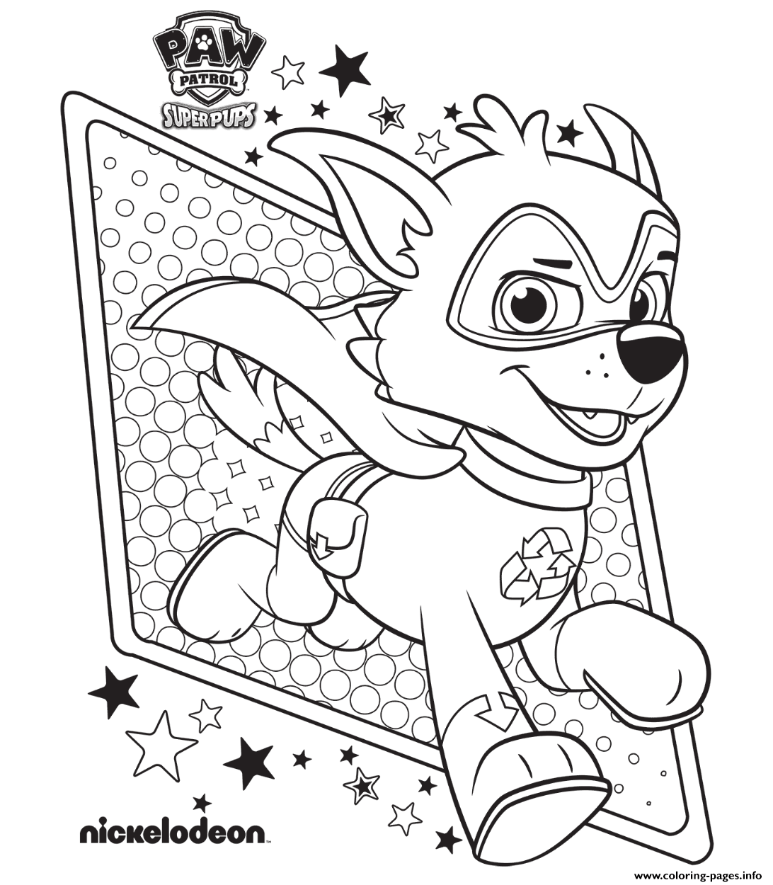 Paw Patrol Super Pups Free Coloring Pages Printable
