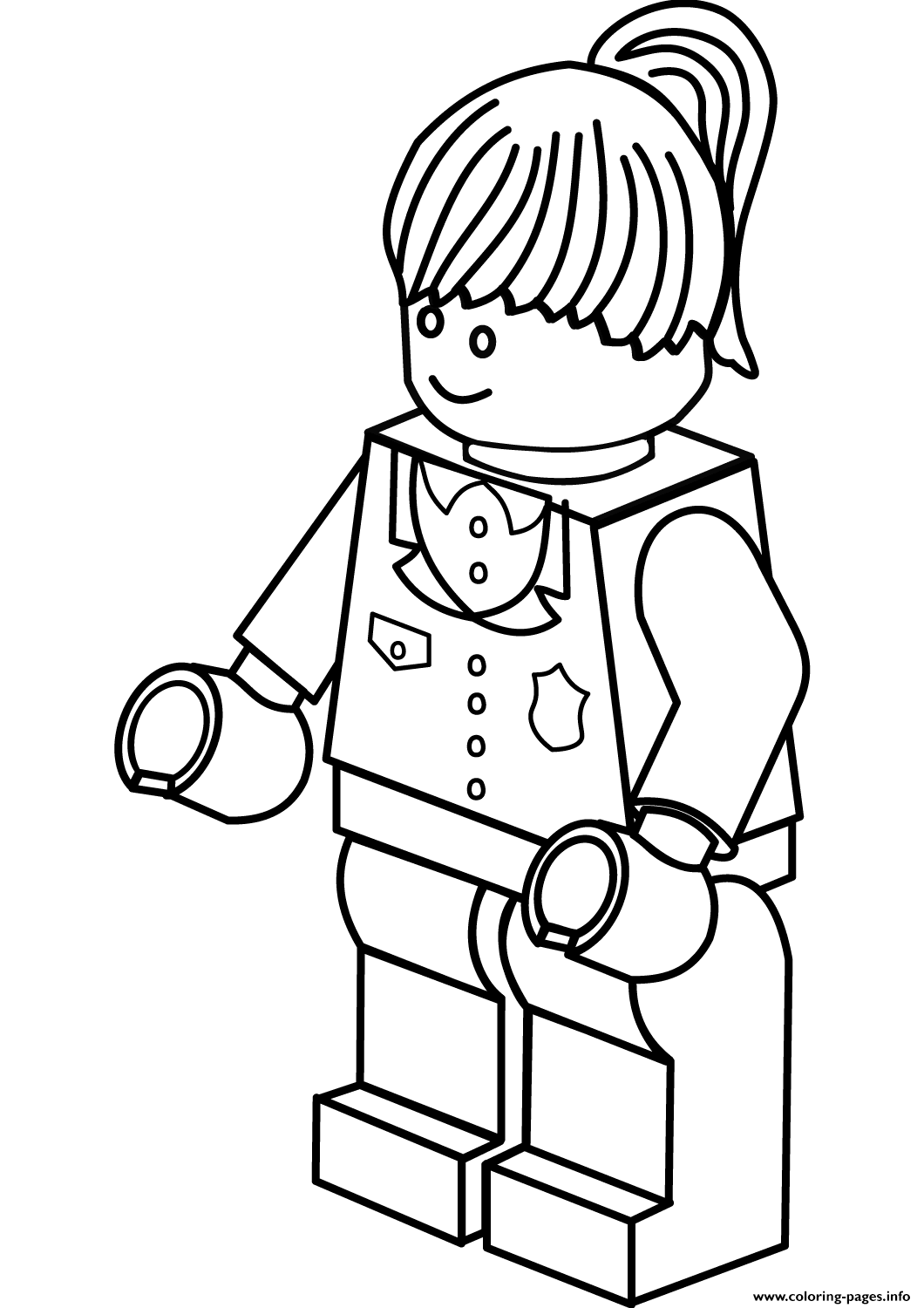 Lego Police Woman Coloring Pages Printable