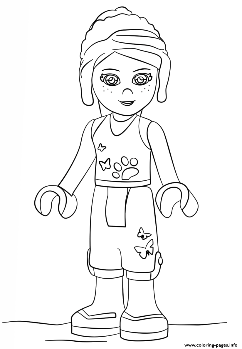 lego friends mia girls coloring pages printable