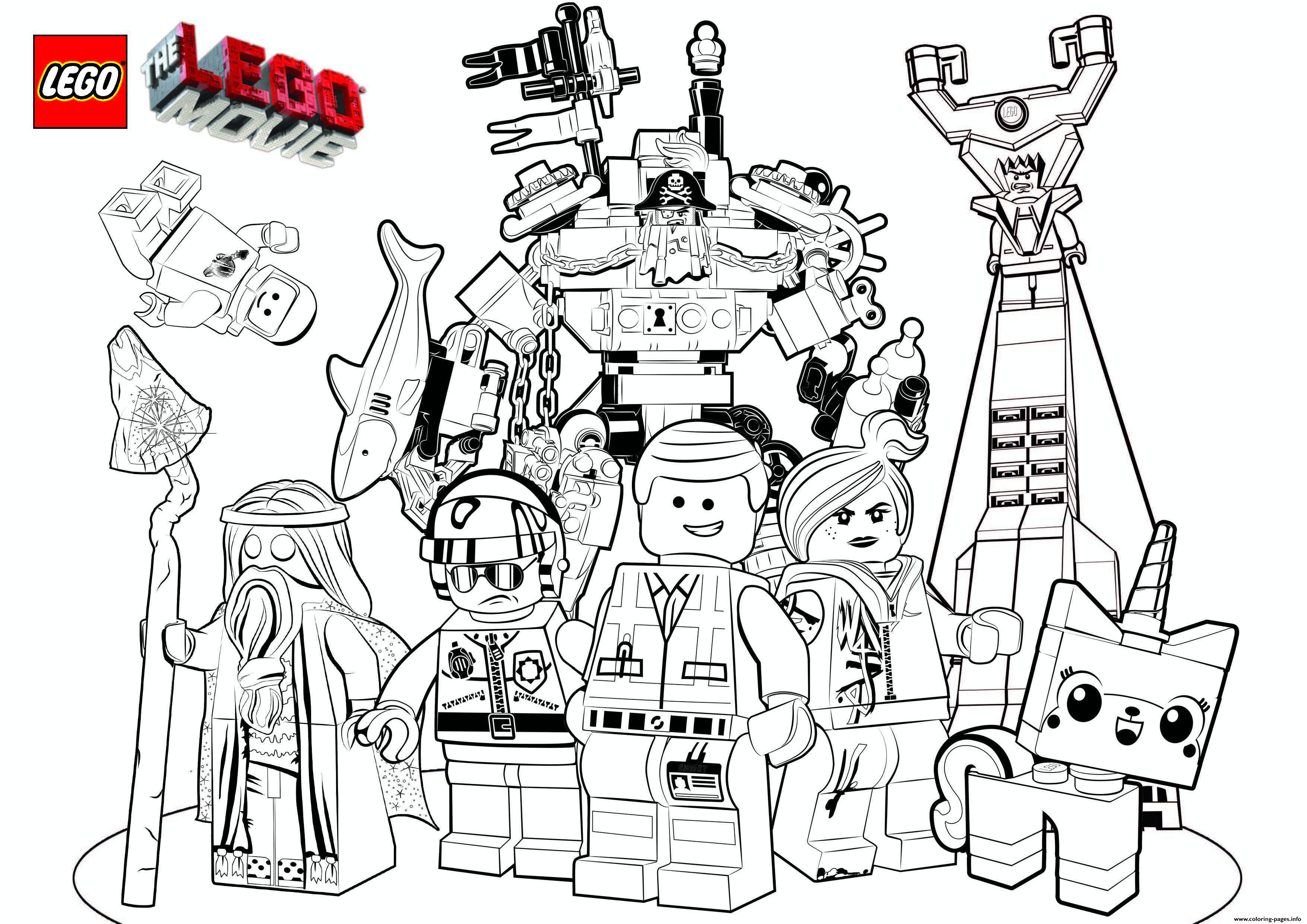 Lego 3 Marvel The Movie 2017 Coloring Pages Printable