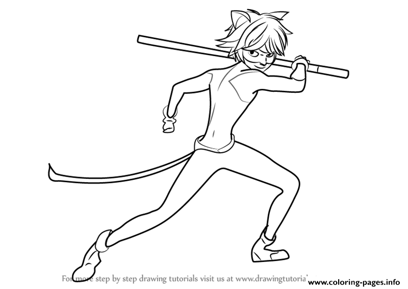 Miraculous Ladybug And Cat Noir Drawings Coloring Pages Printable