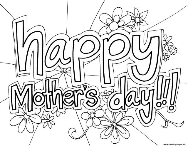 Free Happy Mothers Day Coloring Pages Printable