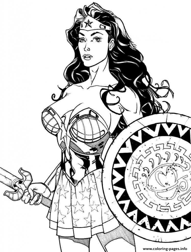 Wonder Woman Power Girl Coloring Pages Printable