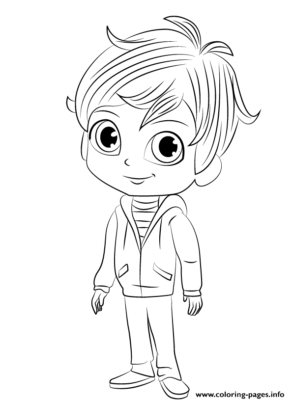 Shimmer And Shine Zac Coloring Pages Printable