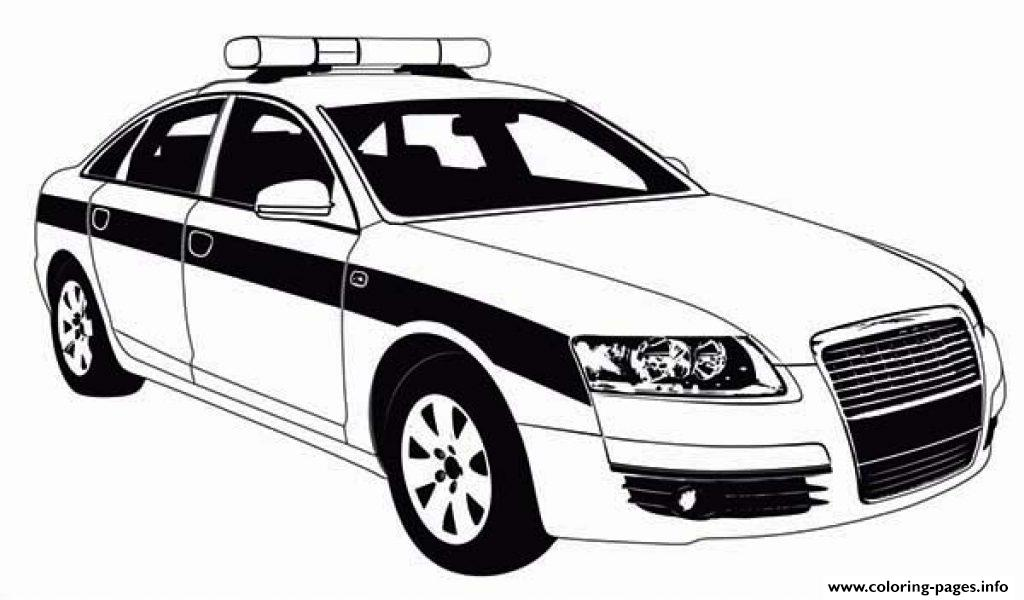 Police Car Patrol On The Road Coloring Pages Printable Coloring Pages
