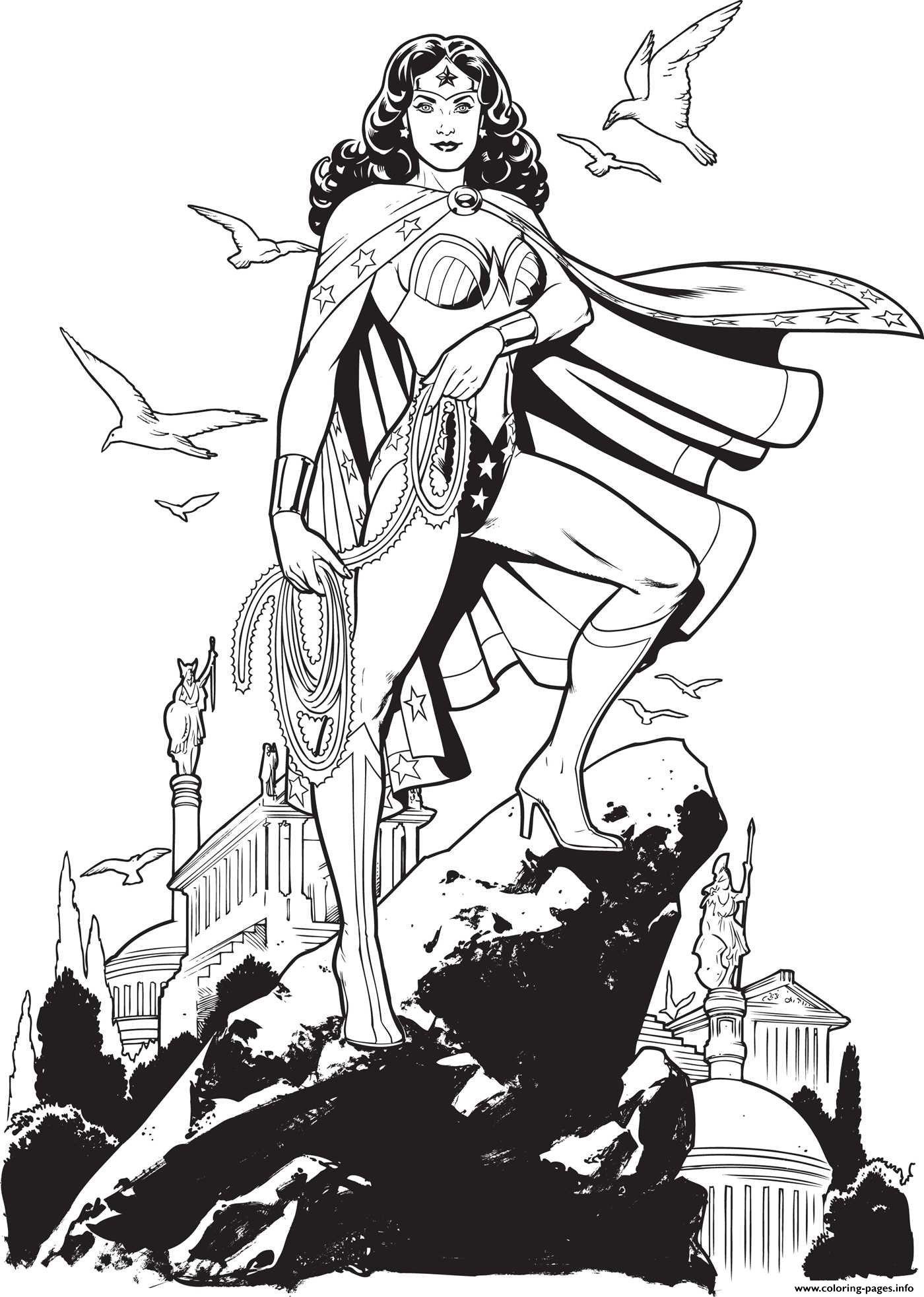 Wonder Woman Au Sommet De La Coline Dc Comics