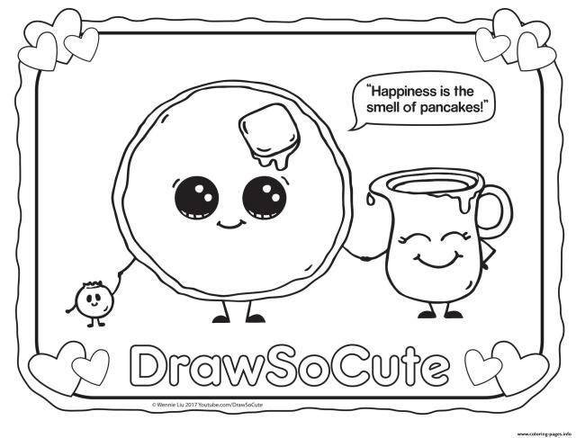 Pancake Draw So Cute Coloring Pages Printable