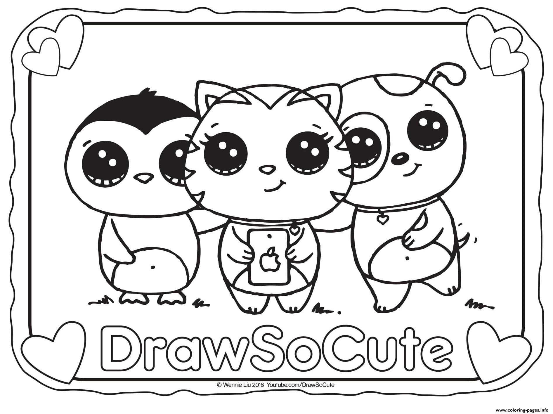 Selfie Draw So Cute Coloring Pages Printable