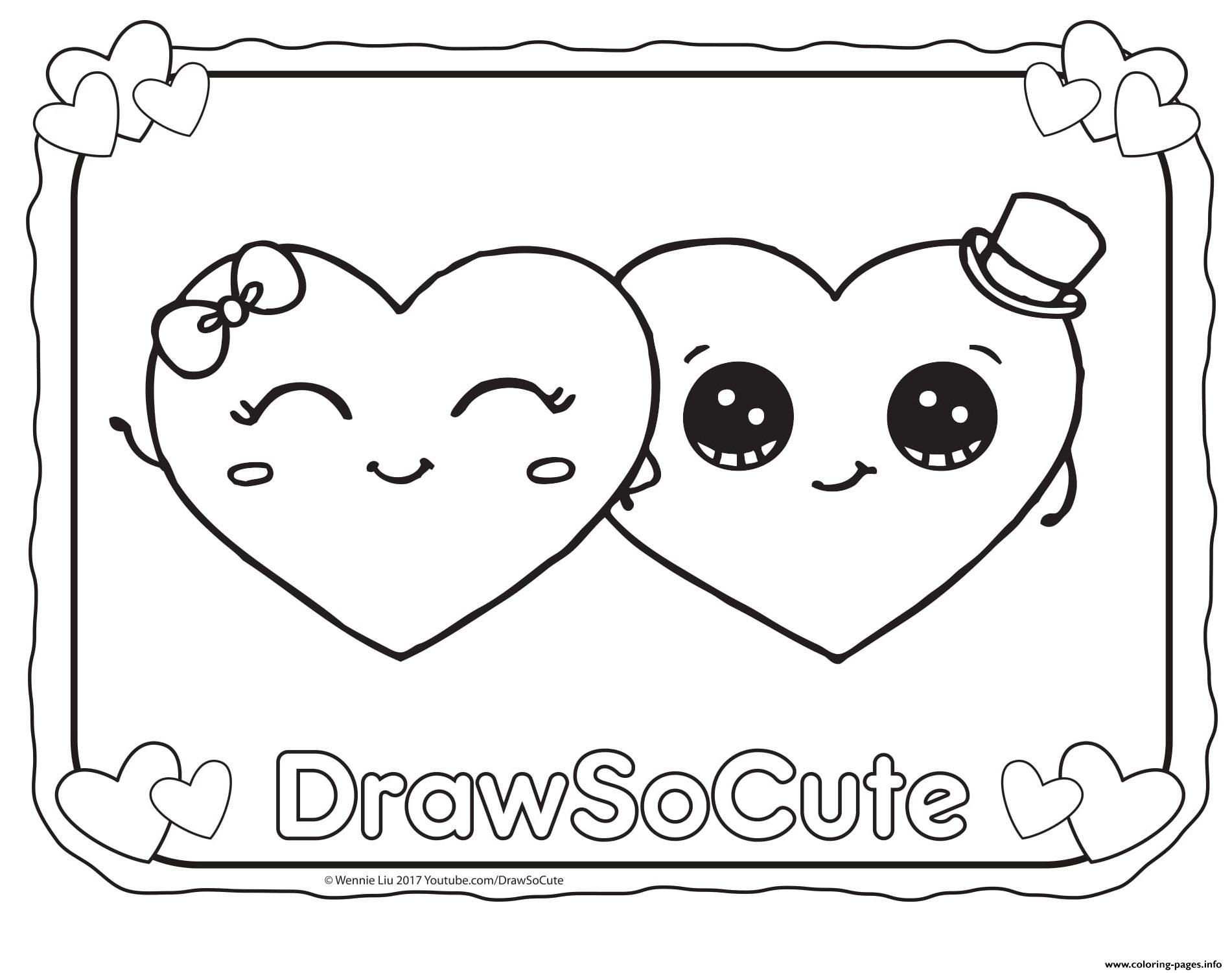 Printable Valentine Coloring Worksheet