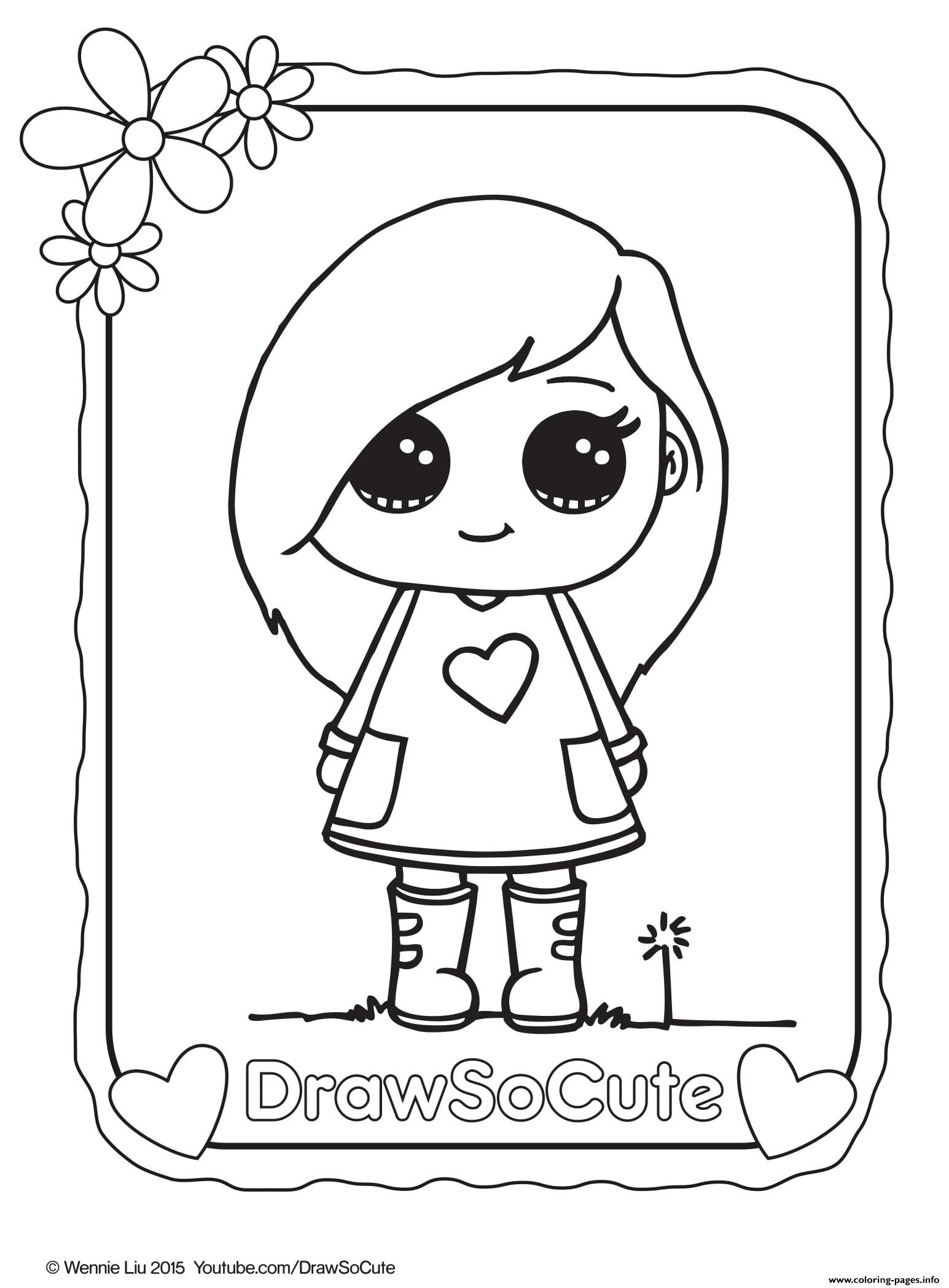 Sophie Draw So Cute Coloring Pages Printable