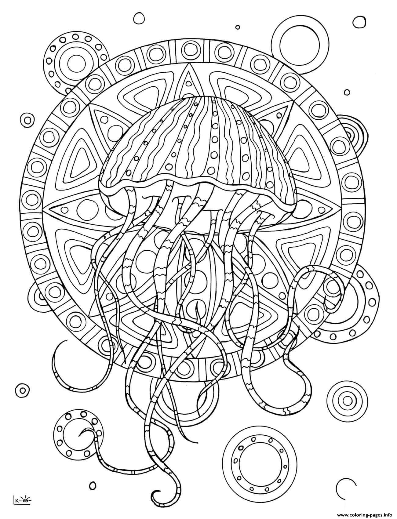 Jellyfish Number 12 Worksheet
