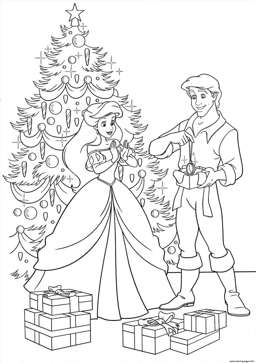 disney princess christmas gifts coloring pages printable