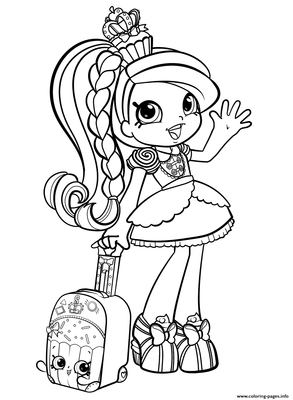 Shopkins Girl In World Vacation Season 8 Coloring Pages