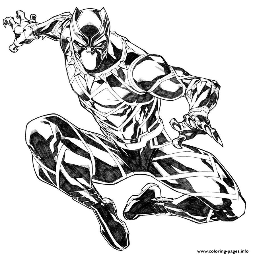 Black Panther By Carlosgomezartist Coloring Pages Printable