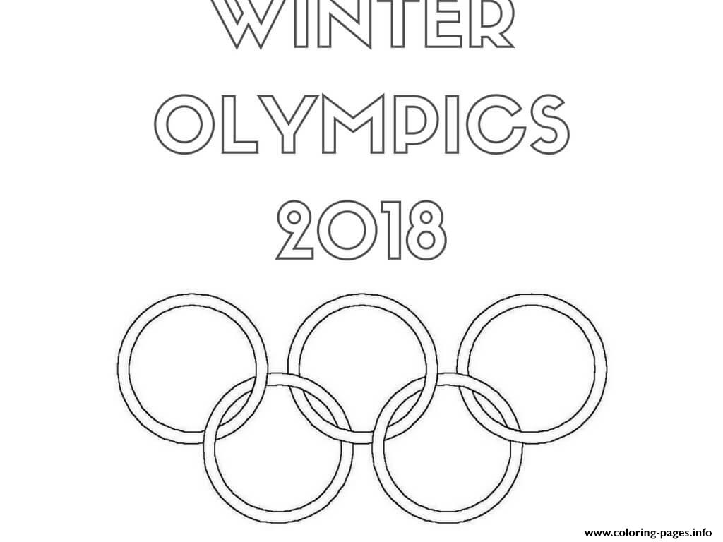 Winter Olympics Logo Coloring Pages Printable