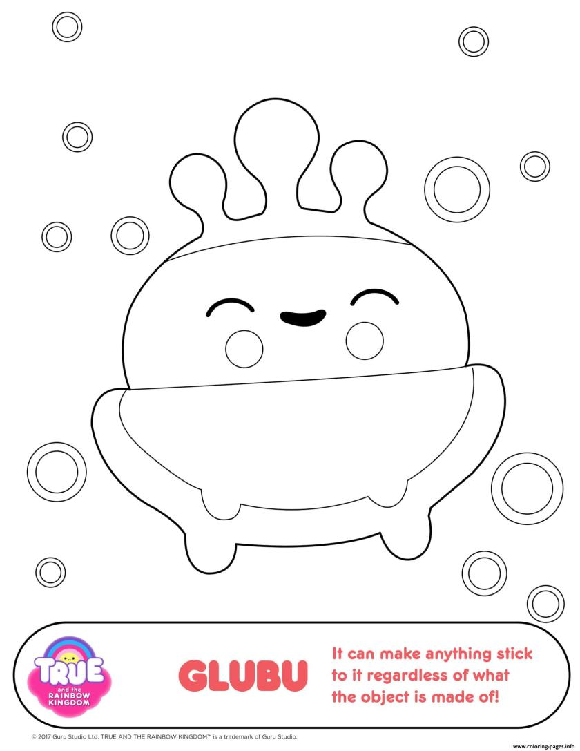 glubu 1 true and the rainbow kingdom coloring pages printable